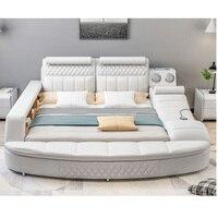0609TB25 Спальня мебель мягкий кожаный диван кровать с хранения Кровать Конце Скамьи диван массажные прикроватные тумбочки, шкаф для хранения