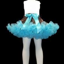 Юбка-пачка регулируемый пояс для танцев Одежда для девочек для фотосессий детская одежда пачка для маленькой девочки pettiskirt коричневый и светло-голубой цвет