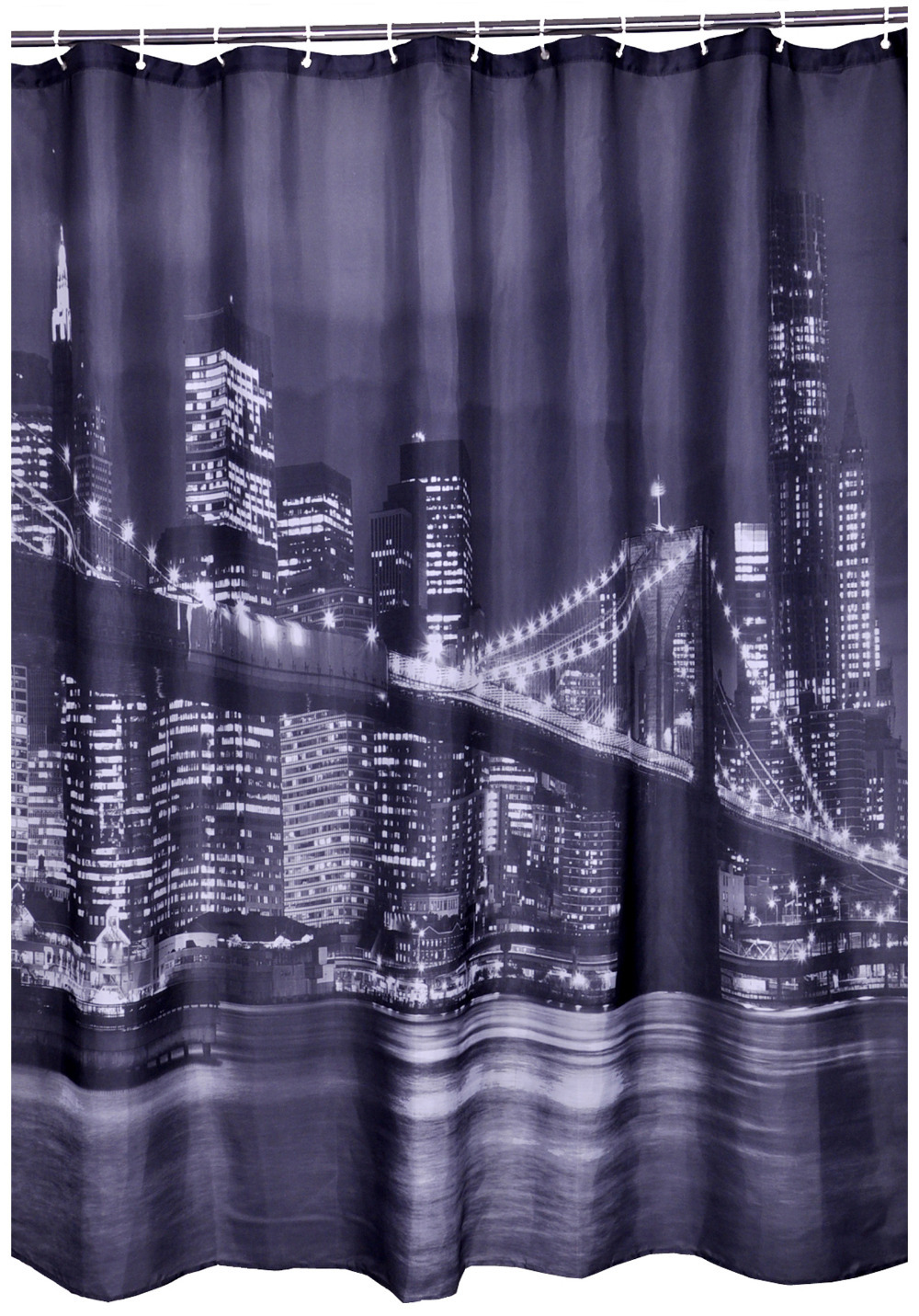 Bathroom Decoration Polyester Printed Fabric Brooklyn Bridge Scene Style Shower Curtains Liner Waterproof Bath 7272 In From Home