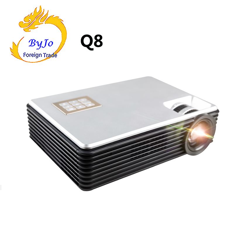2019 NEUE ByJoTeCH Q8 Volle 1080P 4K 2K Projektor Android 7,0 Proyector WIFI Bluetooth 5000 lumen Hause theater