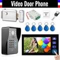 "7"" Wireless Video Doorbell Kit Video Door Phone Intercom Code RFID Keyfobs Electronic Lock wireless controller"