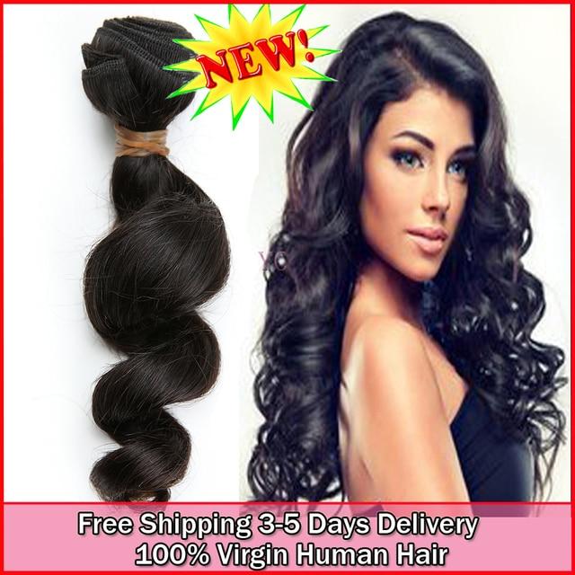 True Glory Virgin Human Brazilian Top 6a Curly Loose Wave Hair 4bundles Natural Color Beauty