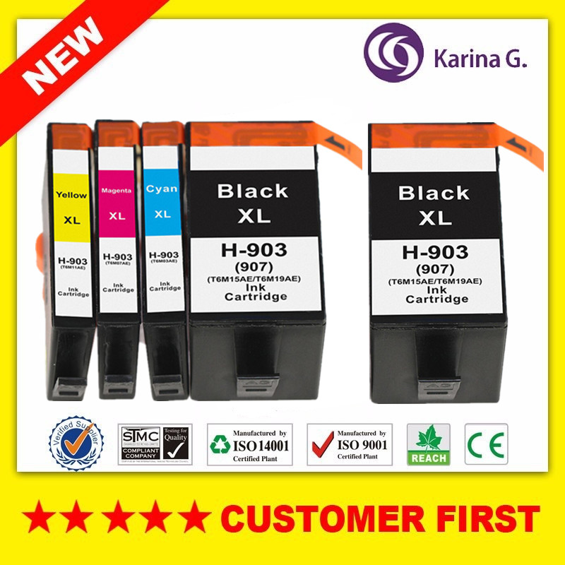 5PCS Compatible Ink Cartridge Replacement For hp 903 hp903 hp 903xl suit For Officejet Pro 69606964