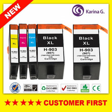 5PCS  New Full Ink Cartridge For HP 903 HP903 Officejet Pro 69606964 6965 6966 6968 6970 6971 6974 6961 6963