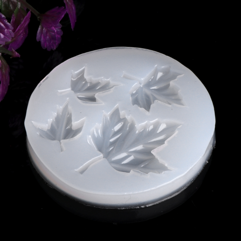 JAVRICK Maple Leaf DIY Silicone Mold Craft Mould Resin Necklace Jewelry Pendant Making NEW