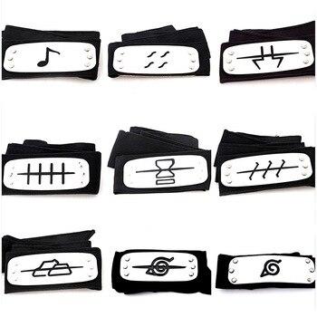 naruto headband Classic Unisex Naruto Forehead Fashionable Guard Headband Cartoon Cosplay Accessories for kits girls