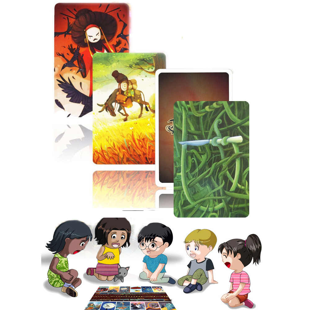 2019 dixit cards game English original back for home party kids fun board game