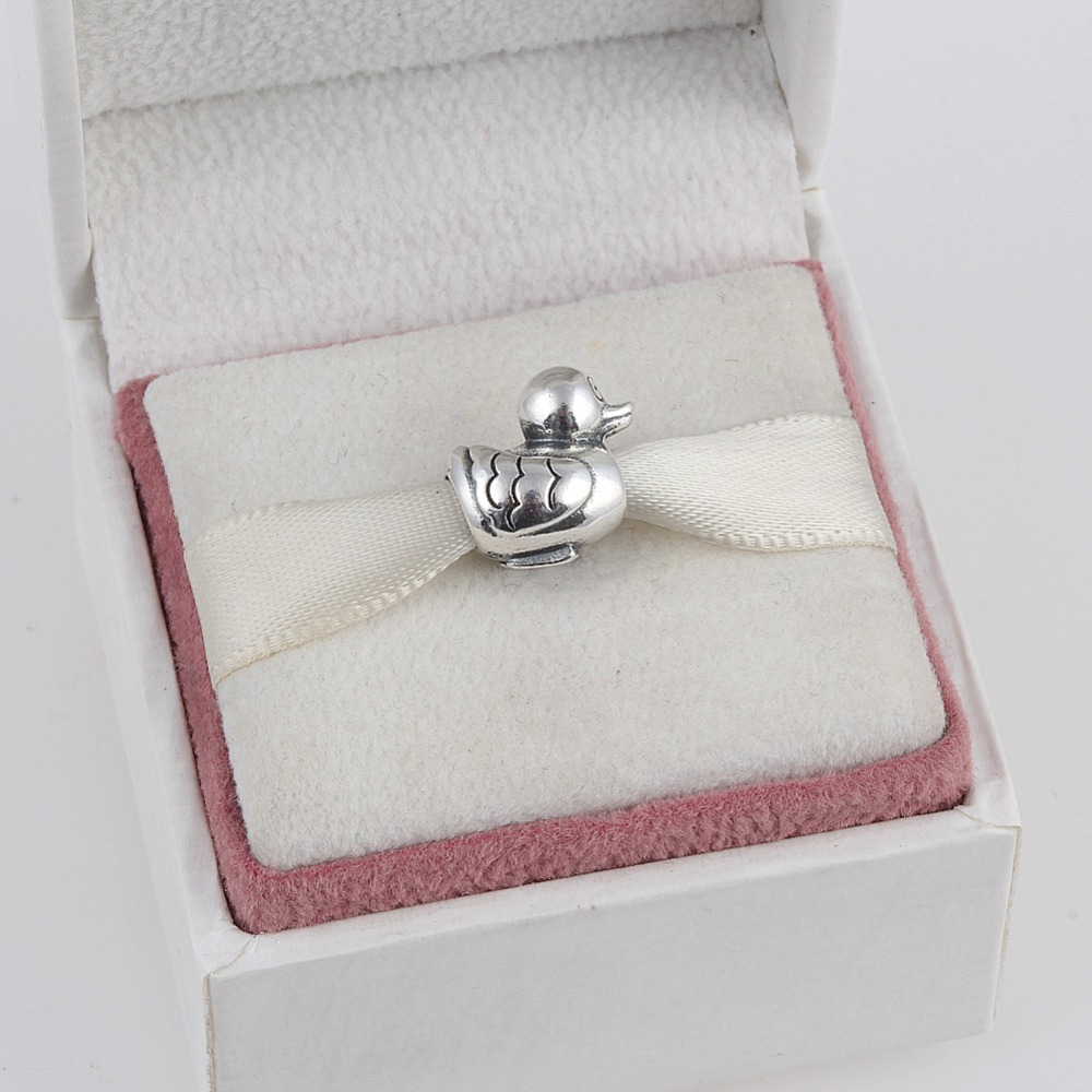 8ecaa9ee0deb Cheap Vintage 925 Plata de Ley lindo pato encanto cuentas Ajuste Original  Pandora pulsera colgante auténtica