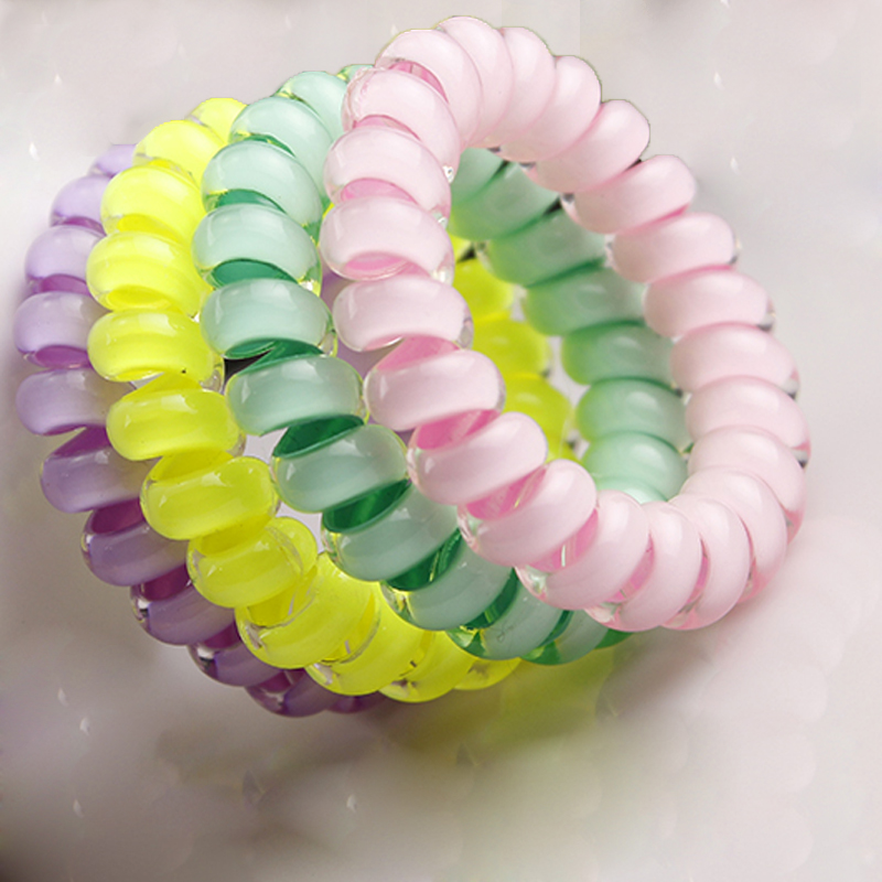 Hair Accessories for Girls Telephone Wire Elastic Spring Hair Styling Braider Hair Ropes/Ties/Rings Ponytail Holder   Headwear