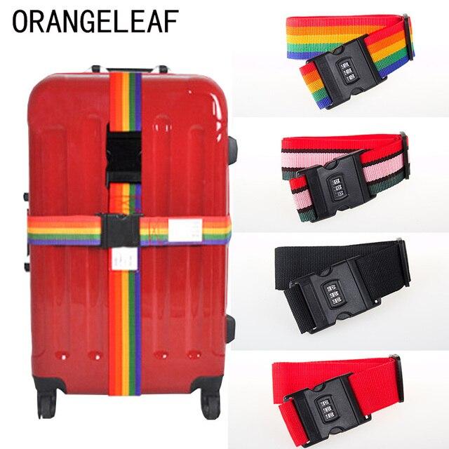 8e63f61a97fc Багажный ремень кросс-ремень упаковка 200 см регулируемый Дорожный чемодан  нейлон 3 цифры Пароль замок