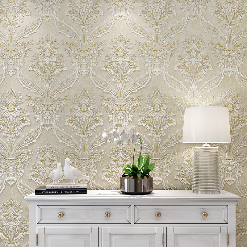 European Style 3D Palace Wall Mural Non-woven Flower Wall Paper Roll Living Room Wallcovering Wallpapers Floral papel de parede high quality wall paper mural flower floral wallpaper for walls wallpapers non woven 3d stereoscopic wallpapers papel de parede