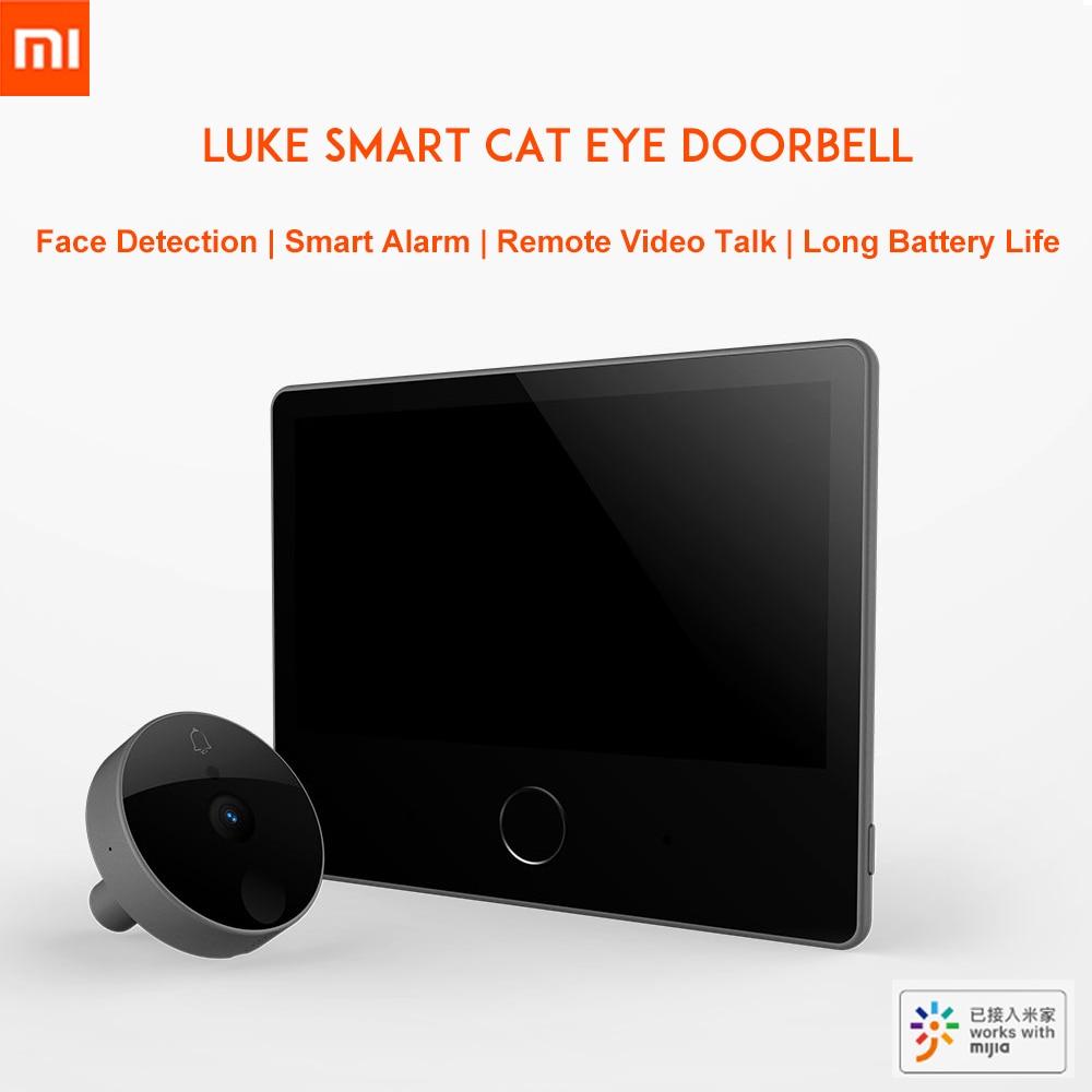 Xiaomi luke умный видеодомофон кошачий глаз caty детектор лица ночное видение двухстороннее аудио mijia дверной звонок LSC Y01 молодежное издание