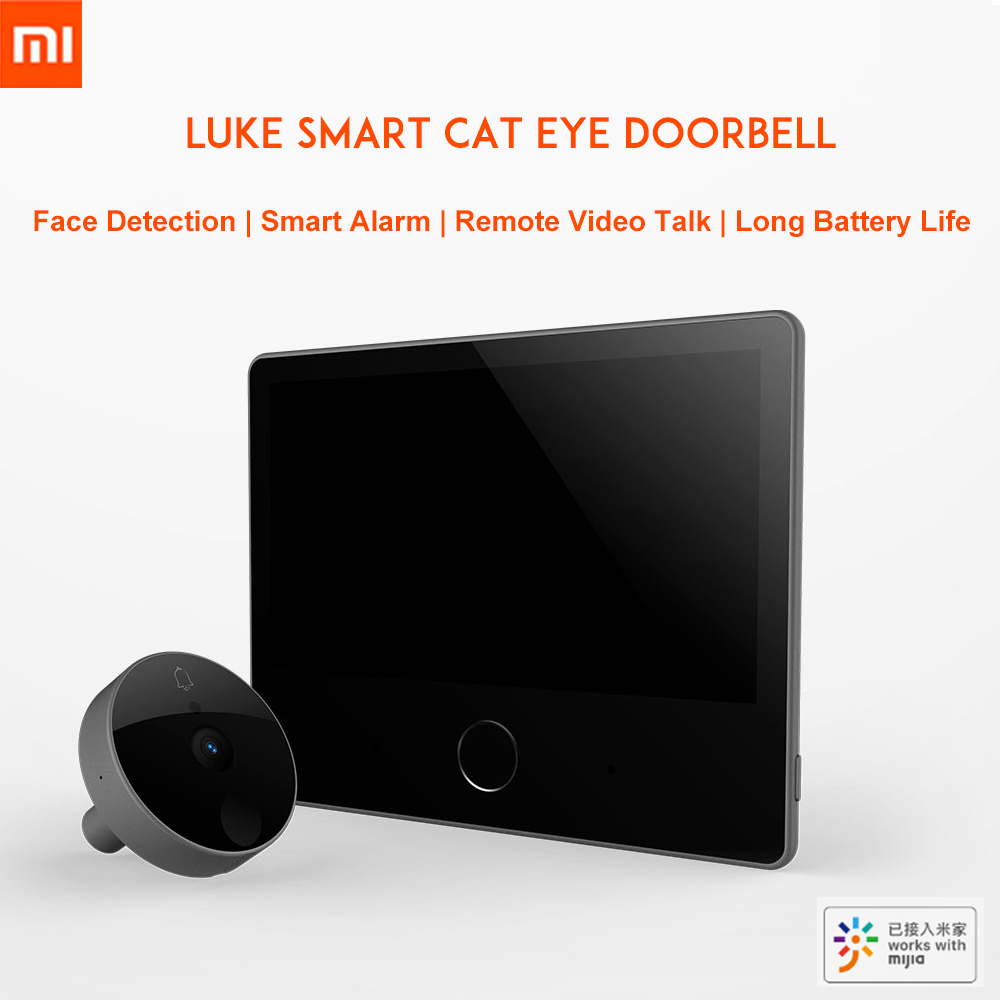 Xiaomi luke inteligente Vídeo porteiro Olho de Gato caty Enfrentar detector night vision áudio bidirecional mijia campainha LSC-Y01 edição Juventude