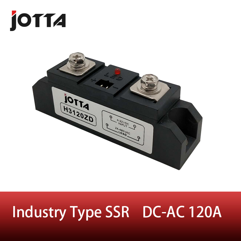 120A Industrial SSR Single-phase Solid State Relay 120A Input 4-32VDC Output 24-680VAC120A Industrial SSR Single-phase Solid State Relay 120A Input 4-32VDC Output 24-680VAC