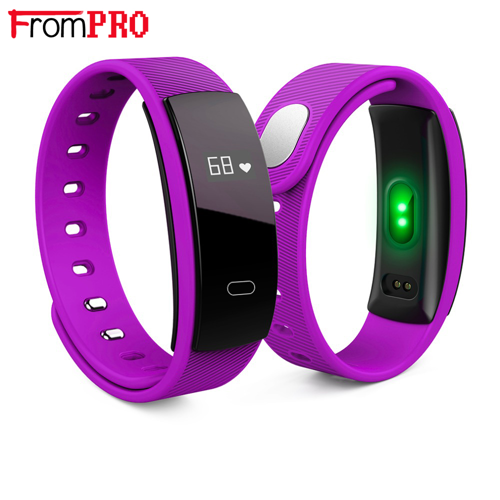FROMPRO QS80 Smart Sports Bracelet Wristband Heart Rate Blood Oxygen Fitness Track Monitoring Smart Watch Waterproof