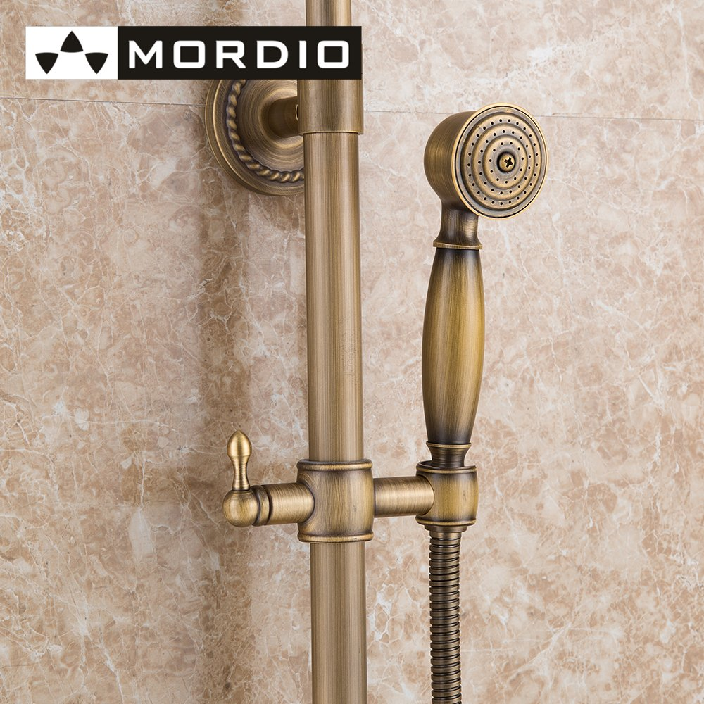Antique Solid Brass Bath Tub Mixer Taps Shower Faucet Bathroom ...