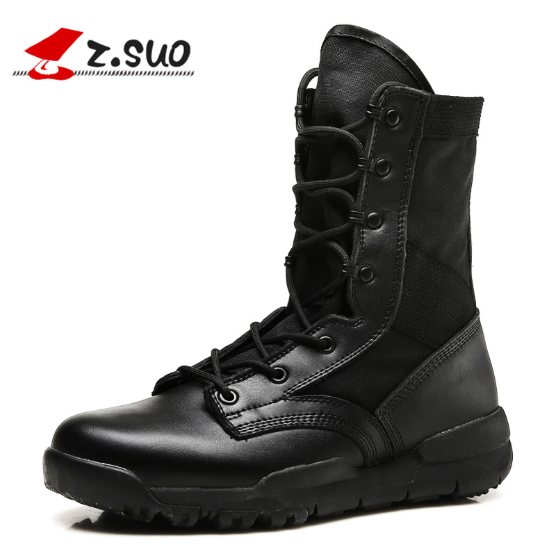 Z.SUO 2017 New Fashion Women's Boots High Cut Cow Leather with Canvas Female Leisure Boots Light Breathable Shoes ZS998V2(w) kelme 2016 new children sport running shoes football boots synthetic leather broken nail kids skid wearable shoes breathable 49