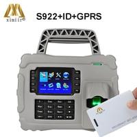 S922 IP65 GPRS TCP/IP טביעות אצבע זמן נוכחות אופטי חיישן מזהה כרטיס זמן הקלטה עם מובנה 7600 mAh גיבוי סוללה-במכשיר לזיהוי טביעות אצבע מתוך אבטחה והגנה באתר