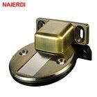 NAIERDI Door Holder Catch Zinc Alloy Casting Floor-Mounted Magnetic Door Stopper Door Stops Floor Suction For Furniture Hardware