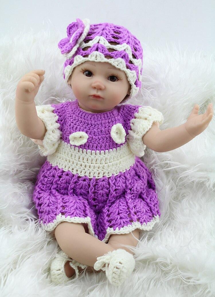 Lifelike Newborn Baby Doll Fashion 17 Inch Soft Silicone ...