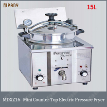 MDXZ16 mini countertop electric pressure fryer chips potato chicken deep fryer 15L stainless steel henny penny pressure fryer