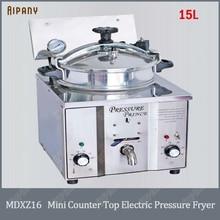 MDXZ16 mini countertop electric pressure fryer chips potato chicken deep fryer 15L stainless steel henny penny pressure fryer potato electric food fryer