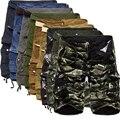 Mens Shorts de Carga Militares 2017 Nova Marca Calções de Camuflagem Do Exército homens De Algodão Solto Ocasional Trabalho Calças Curtas Plus Size Não cinto
