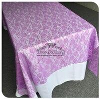 Красная кружевная прямоугольная скатерть для свадебного банкета отельный Настольный чехол вечерние принадлежности домашний текстиль - Цвет: Purple