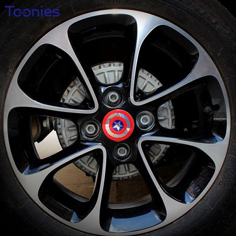 4pcs/lot Smart 453 Fortwo Forfour Car Sticker Wheel Rim