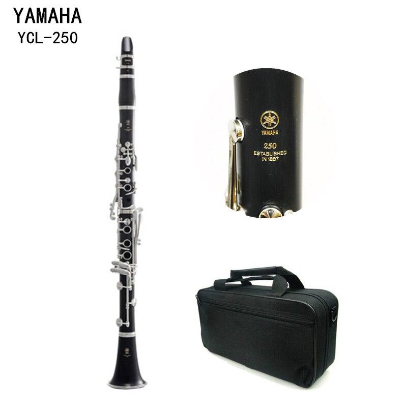Mat ABS Résine Japon Clarinette YCL-250 Bakélite Clarinettes Étudiant Bb Ton Musique Instrument Embout 4C Inclus Cas