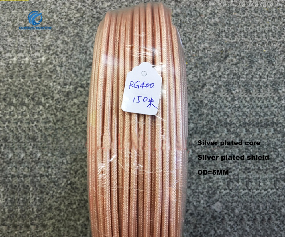 50ohm RG400 silver plated wire High temperature resistant Double shielded RF coaxial cable SFF 50 3