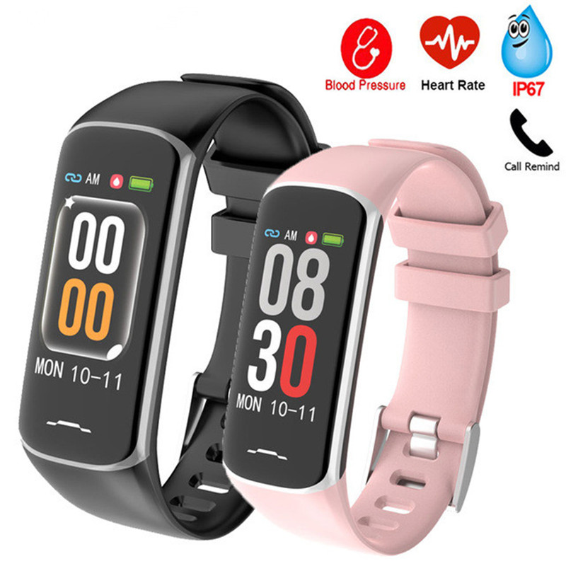 bcc4304f2744 Reloj inteligente B2 pulsera IP67 impermeable reloj deportivo presión  arterial Frecuencia Cardíaca ...
