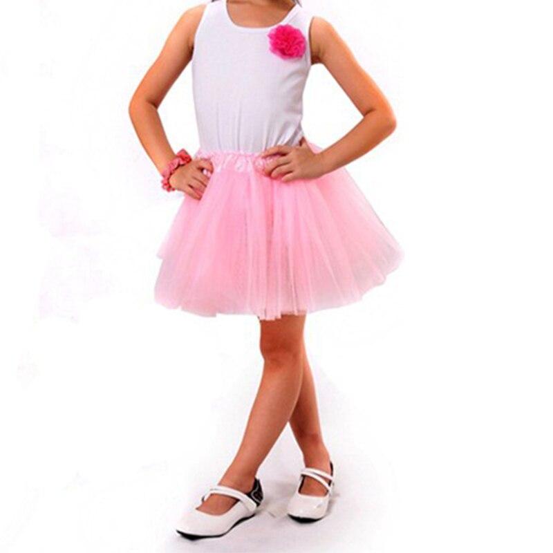 Summer Kid Girls Skirts Princess Style Tutu Pettiskirt Solid tutu Skirts Girl Dance Skirt Baby Clothes  Лосины