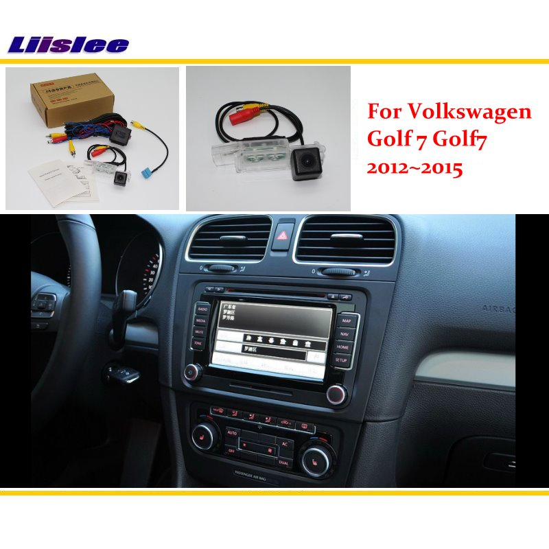 Liislee caméra de recul pour Volkswagen VW Golf 7 Golf7 2012 ~ 2015/RCA et caméra de recul Compatible écran d'origine