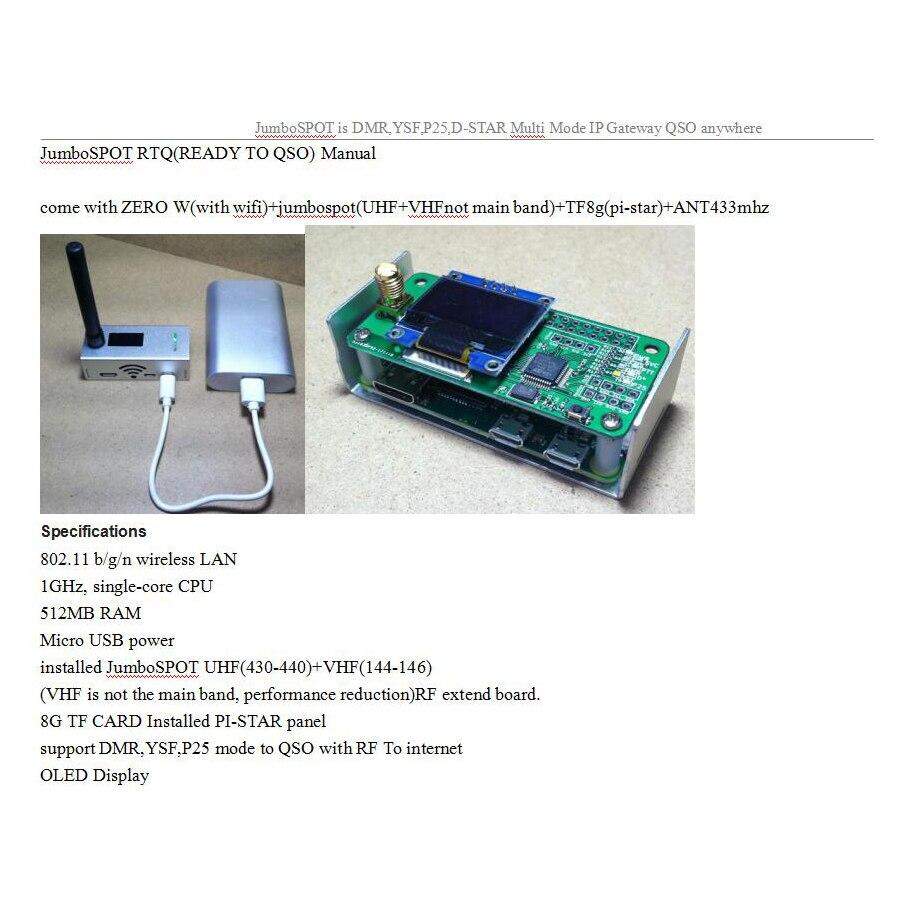 BLEL Hot For MMDVM hotspot Support P25 DMR YSF + raspberry pie + OLED + Antenna + Case