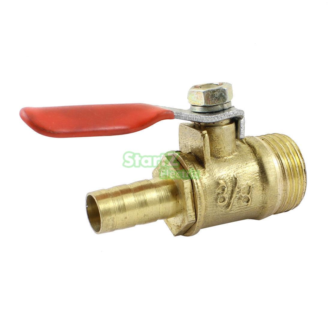 uxcell Brass Air Ball Valve Shut-Off Switch 1//4 Hose Barb to 1//4 Hose Barb Pipe Tubing Fitting Coupler 90 Degree Operation Handle 2Pcs