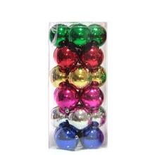 24pcs/Barrel  Christmas Ball For Xmas Tree Decorations Dia 4cm New Year Ornaments Hanging Drops Bar Party Supplie