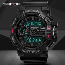 Sanda Sport Watches Analog Digital LED Backlight Men Sport Watch