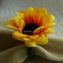 Шелковое солнечное кольцо-цветок для салфетки, держатель для салфеток