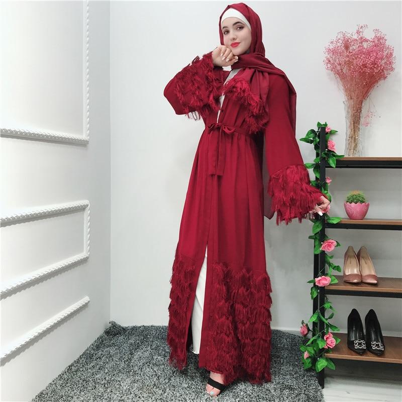 90000e34d9 Muslim Velvet Abaya Maxi Dress Nida Cardigan Long Robe Gowns Jubah Kimono  UAE Ramadan Arab Turkey Islamic Kaftan Worship Service