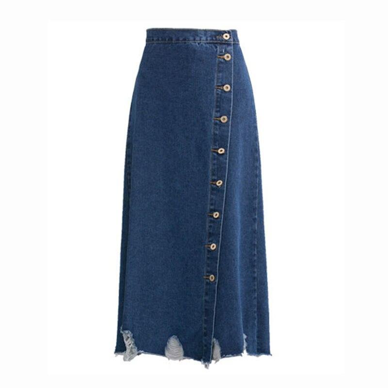 Nuevas Mujeres Faldas Falda Larga De Cintura Alta Pantalones