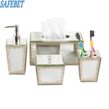 SAFEBET Brand 4Pcs Bathroom Cosmetic Storage Box Apply to Jewelry Emulsion Paper Towel Storage Fashion