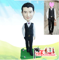 2018 Brinquedos Personalized Custom Reality Polymer Clay Doll From Photos gift for you boy friend Birthday cake topper