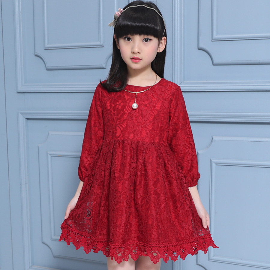 Girls Pageant Dresses Long Sleeve Pretty Graduation Gowns Children ...