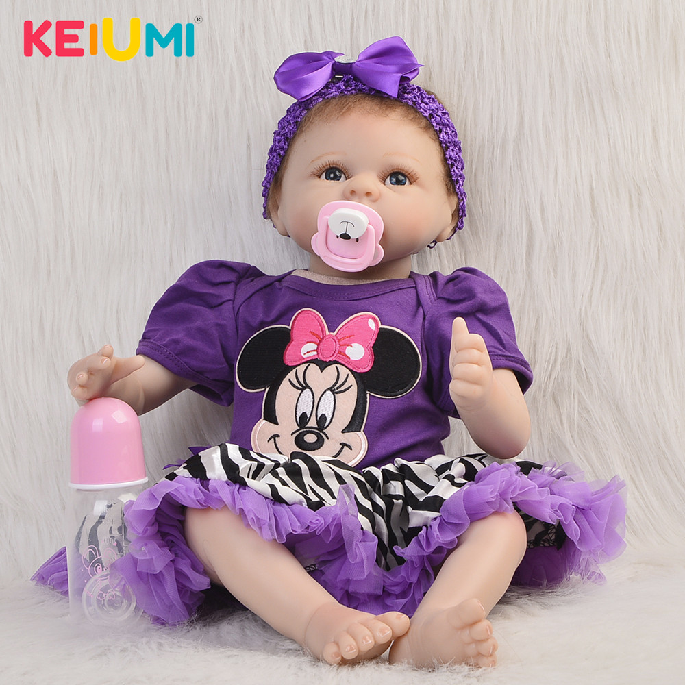Lifelike 55 cm Baby Toys Soft Silicone bebe Reborn Vinyl Babies Dolls 22Fashion Newborn Doll Cloth Body For Children Best GiftLifelike 55 cm Baby Toys Soft Silicone bebe Reborn Vinyl Babies Dolls 22Fashion Newborn Doll Cloth Body For Children Best Gift