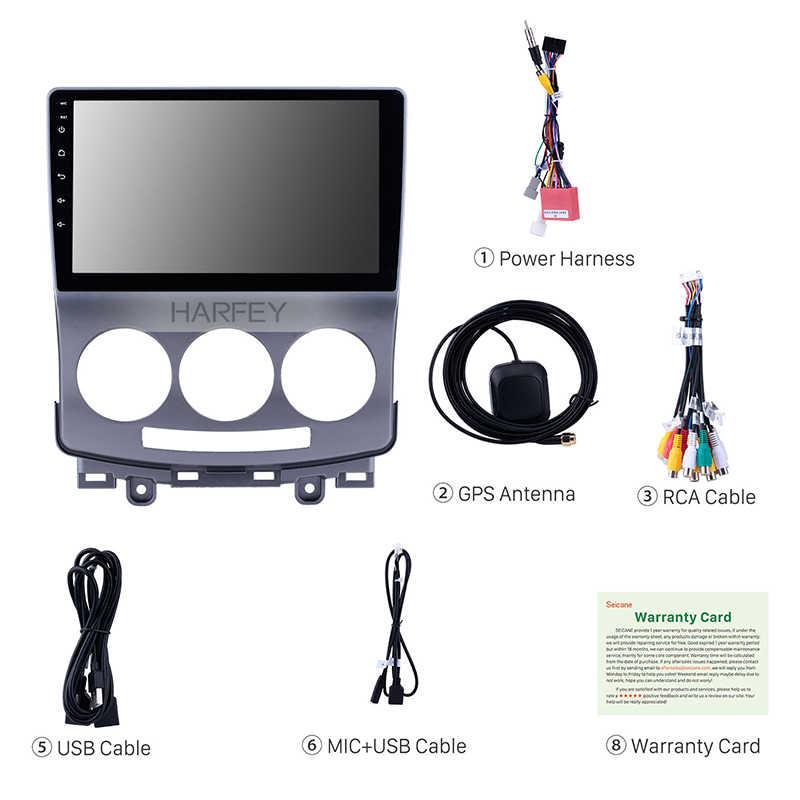 """Harfey 1Din カーラジオの Android 9.0 9 """"の Gps ステレオ 2005-2010 歳マツダ 5 タッチスクリーンマルチメディアプレーヤー 4 グラム Wifi ヘッドユニット"""