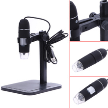Portable 1000X 8 LED Electronic Microscope USB Endoscope 2MP Black Practic Magnifier Camera Desk Loupe