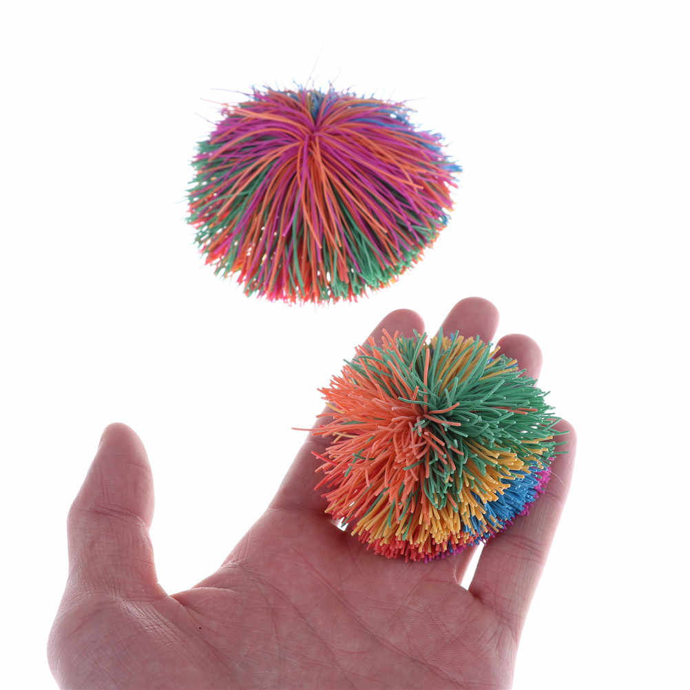 6 Cm/9 Cm Warna Warni Gelisah Sensorik Koosh Bola Bayi Pelangi Lucu Elastis Bola Stres Relief Anak-anak Autisme Khusus kebutuhan