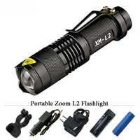 Linterna portátil Led 3800 lúmenes CREE XM-L2 linterna táctica 5 modo led impermeable 18650 batería recargable