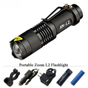 Led-Torch Battery-Flashlight Tactical-Lantern Rechargeable Waterproof Lumen 5-Mode 3800